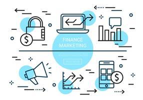 Elementi di vettore di finanza piatta