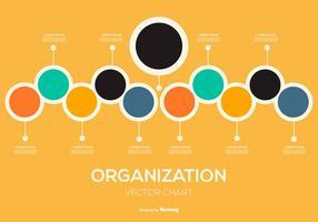 Illustrazione del grafico organizzativo vettore
