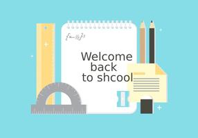 Elementi vettoriali gratis di ritorno a scuola