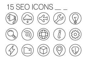 Icone di SEO lineare