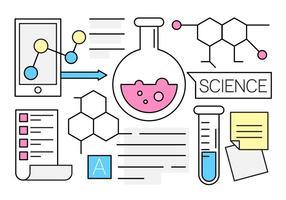 Icone di scienza lineare gratis
