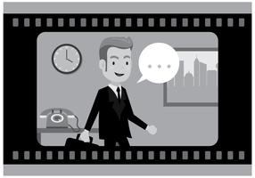 Silent Film Actor Vector gratuito