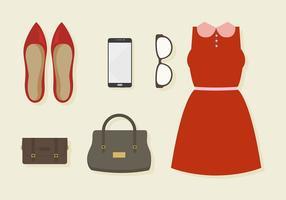 Insieme di elementi di moda vettoriali gratis