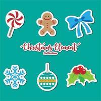 collezione di icone di elementi di Natale vettore