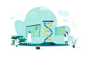 concetto di biotecnologia in stile piatto vettore