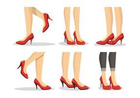 Illustrazione di vettore di collezione di rubini pantofole