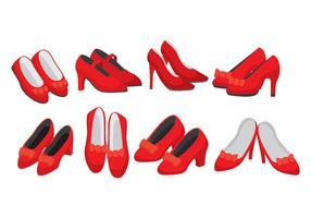 icone di pantofole rubino vettore