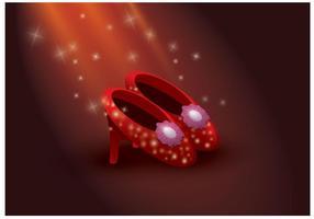 Vettore gratuito di pantofole di rubino