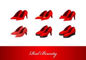 Vettore rosso dei tacchi alti di bellezza