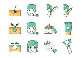 Icone gratuite di dermatologia