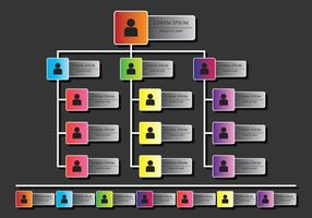 Infografica di organigramma vettore