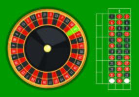Esempio di vettore del tavolo della roulette