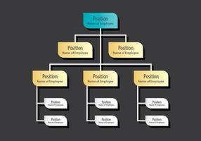 Diagramma organizzativo vettore