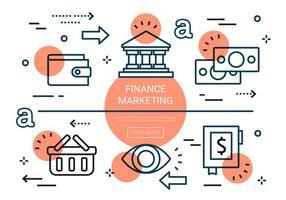 Elementi di vettore di finanza piatta gratis