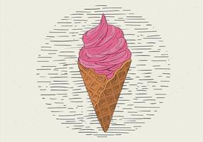 Illustrazione disegnata a mano libera del gelato di vettore