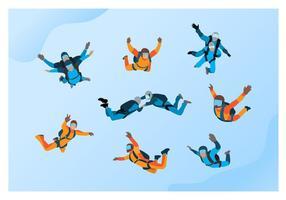 Skydiving Vector gratuito