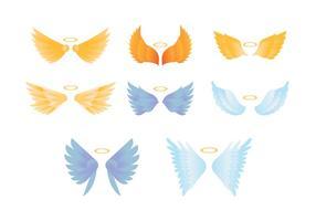Collezione di ali colorate di angelo vettore