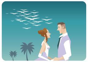 Vettore di coppia romantica