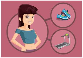 Vettore di personal trainer femminile gratuito