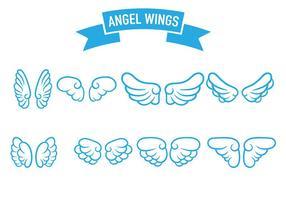 vettore di icona di ali d'angelo