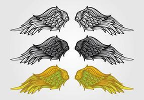 vettore di ali di angelo