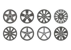 Vettore permesso delle icone delle ruote di sport