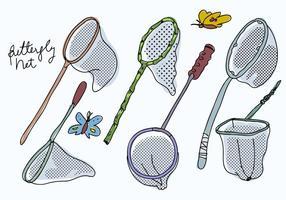 Illustrazione disegnata a mano di vettore dell'accumulazione della rete della farfalla