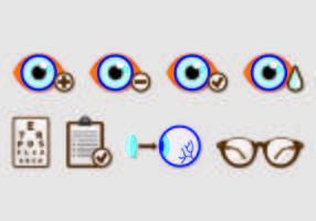 Set di icone di prova dell'occhio vettore