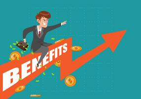 Crescita dei benefici aziendali vettore