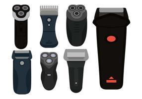 Set di icone vettoriali di rasoio