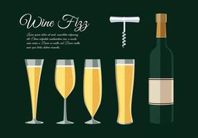vettore di vino frizzante