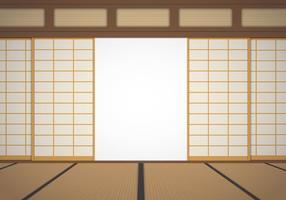 Illustrazione della stanza del dojo vettore