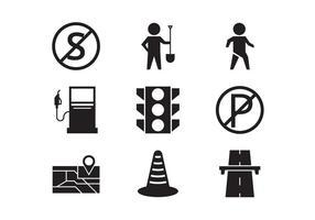 Collezione di icone vettoriali pedaggio