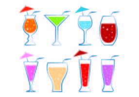 Vettori bicchiere di Mocktail