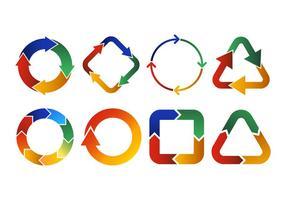 Ciclo icone vettoriali simbolo