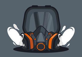 Illustrazione di respiratore vettore
