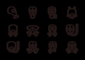 Respiratore icone vettoriali