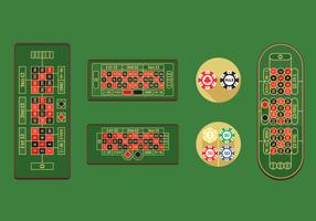 Pacchetto di vettore gratuito tavolo della roulette
