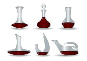 Set vettoriale decanter