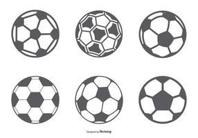 Collezione di icone pallone da calcio vettore