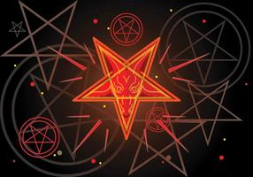 Pentagram Simbolo di Lucifero vettore