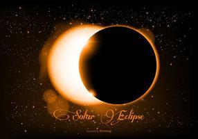 Bella illustrazione realistica di eclissi solare