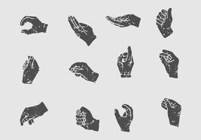 Icona di posa della mano vettore