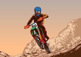 Campionato di motocross vettore