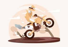 Illustrazione di Motorcross vettore