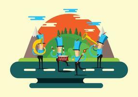parata della banda musicale