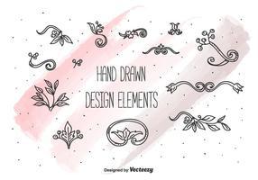 Insieme di elementi di disegno vettoriale