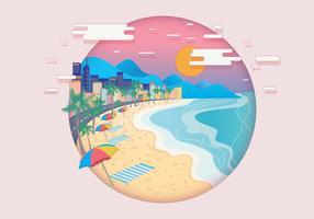 Vettore del paesaggio di Copacabana