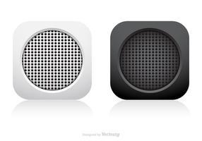 Insieme astratto di vettore dell'icona di app dell'altoparlante