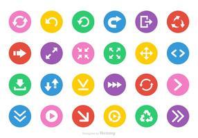 Set di icone vettoriali frecce piatte